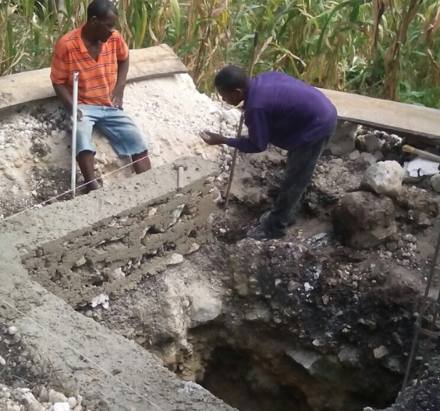 Construction for new latrines