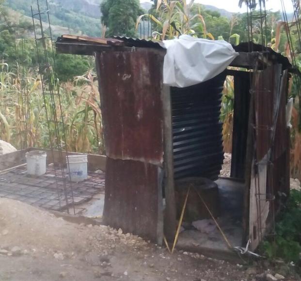 Dilapidated latrine